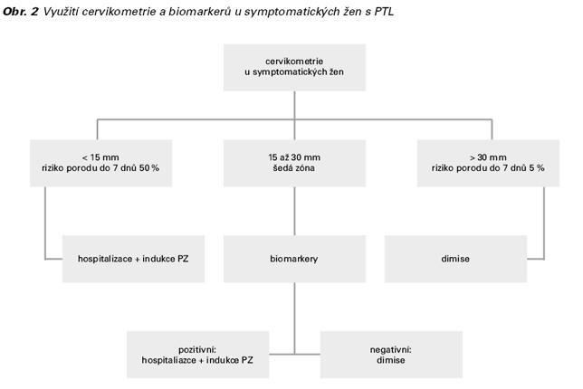 Využití cervikometrie a biomarkerů